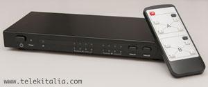 Switch HDMI 4 ingressi 2 uscite con telecomando