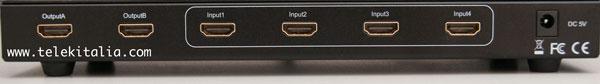 Switch HDMI 4x2 Retro - Connettori HDMI