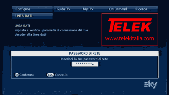Collegare decoder My Sky alla Wi-Fi con SkyLink - Password