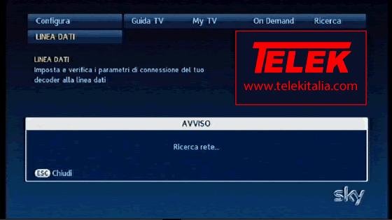 Collegamento My Sky HD ad Internet - Ricerca Rete