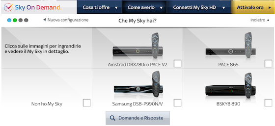 Sky On Demand - Requisiti Attivazione