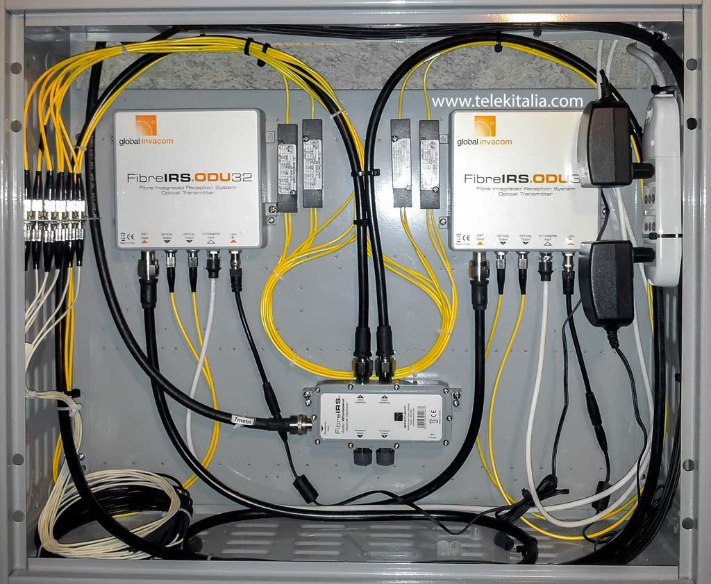 Schema Cablaggio Rete Lan Domestica : Impianto tv fibra ottica