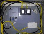 Centrale per impianto in fibra ottica satellitare e terrestre