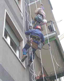 SpiderGlass - Posa cavi in cordata