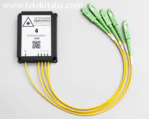 Splitter Fibra Ottica 4 uscite con connettori SC