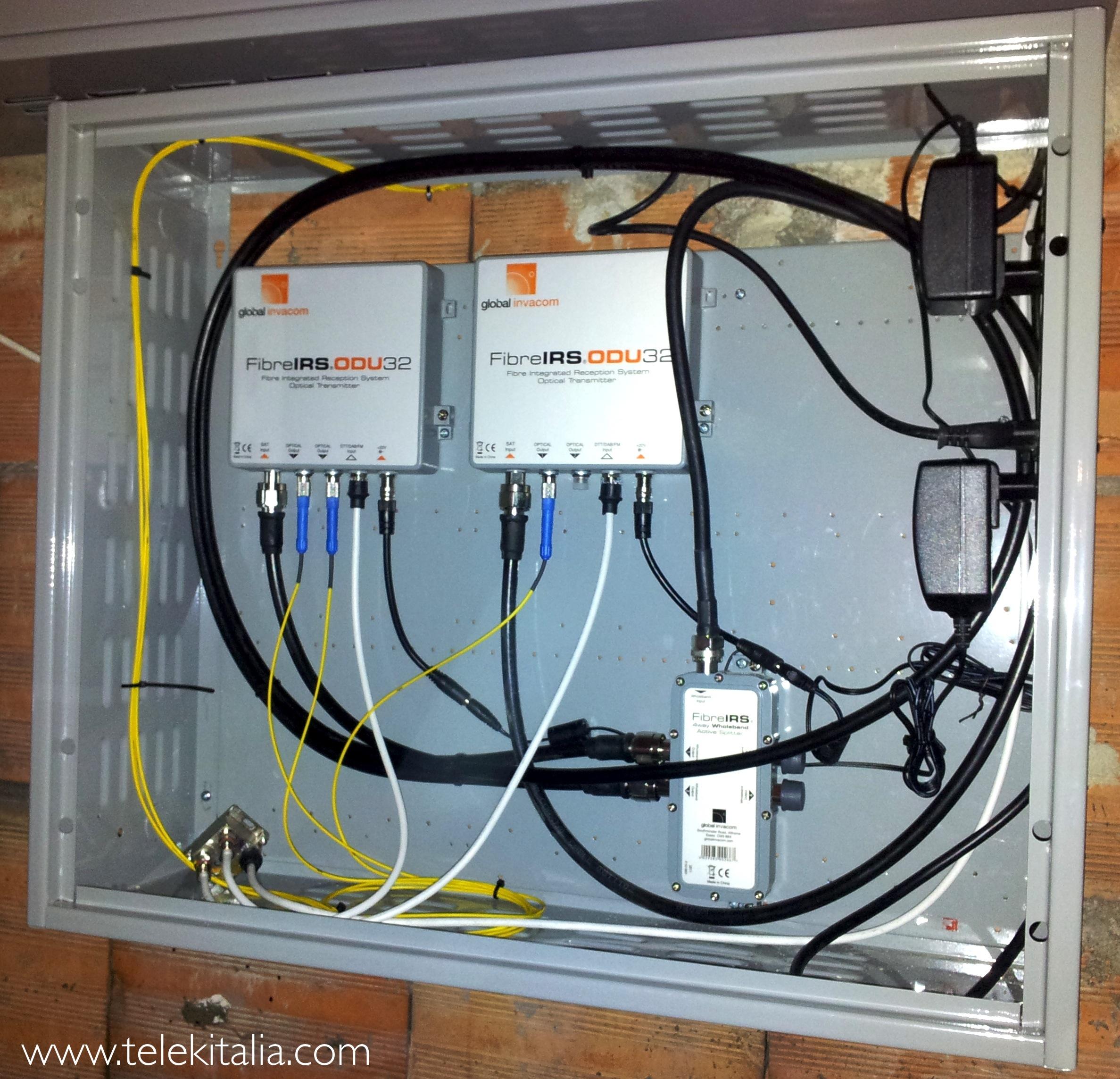 Schema Cablaggio Fibra Ottica : Impianto tv fibra ottica