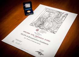 Telek - Diploma e Medaglia Milano Produttiva 2012
