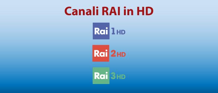 RAI 1 HD e RAI 2 HD disponibili sulle posizioni 101 e 102 ...