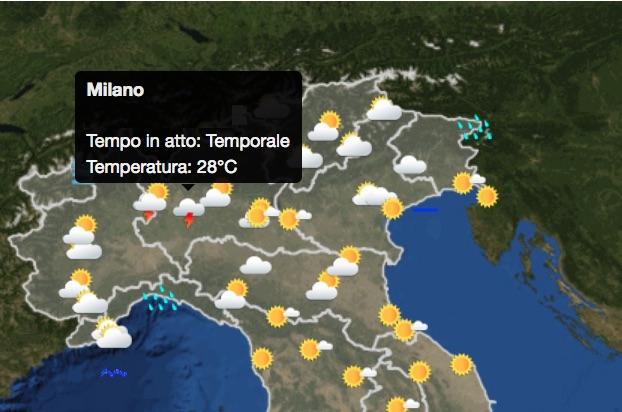 Maltempo su Milano 2016-07-02