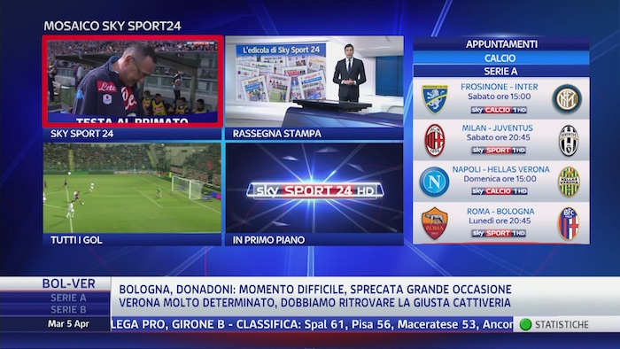Mosaico Interattivo Sky Sport 24