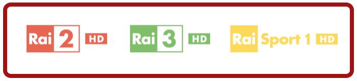 Rai 2 HD, Rai 3 HD, Rai Sport 1 HD cambiano frequenza su Tivùsat