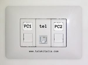 Prese di rete e telefonica a muro