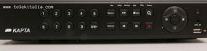 DVR Kapta - 8 telecamere analogiche - Fronte